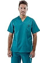 Abollria Divisa Ospedaliera Unisex Uniformi in 80/% Cotone per Infermiera Medico e Operatori Sanitari Scrub da Donna Uomo Divisa di Due Pezzi Top a Scollo V+Pantaloni Lunghi con Due Tasche Comode