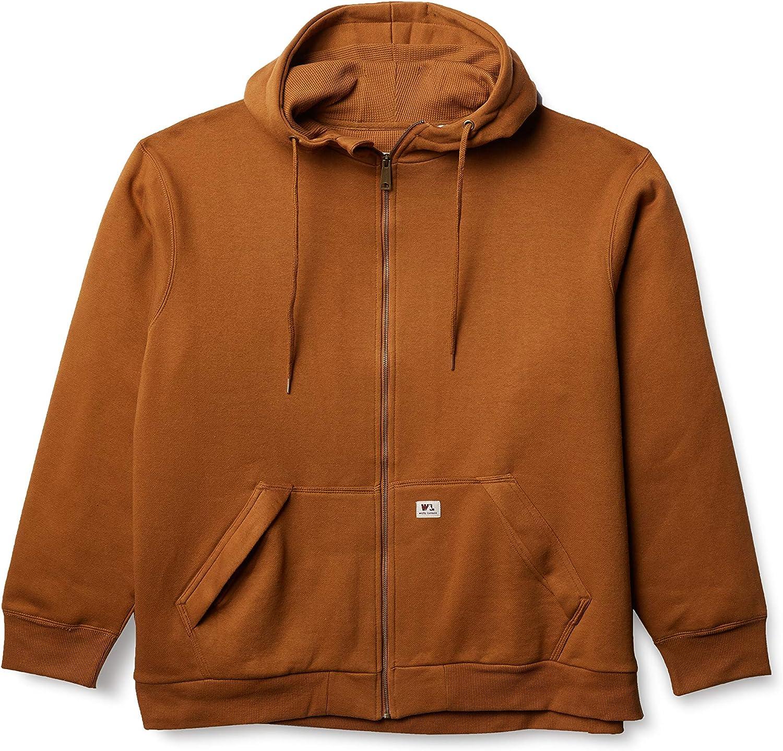 Wells Lamont Men's Full Zip Thermal Lined Hooded Fleece Sweatshirt