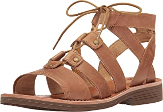Caterpillar Women's Kobbi Lace Up Open Toe Leather Sandals Tater Brown