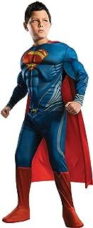 Man of Steel Deluxe Superman Children's Costume, Large