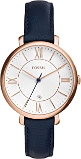 Fossil Women's ES3843 Jacqueline Analog Quartz Blue Watch