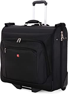 SWISSGEAR Premium Rolling Garment Bag | Bonus Hanging Feature | Men's and Women's Carry-on Luggage - Black