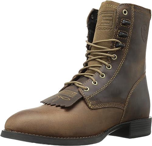 Ariat Men's Heritage Lacer Western Cowboy Stiefel, Distressed braun, 10 2E US