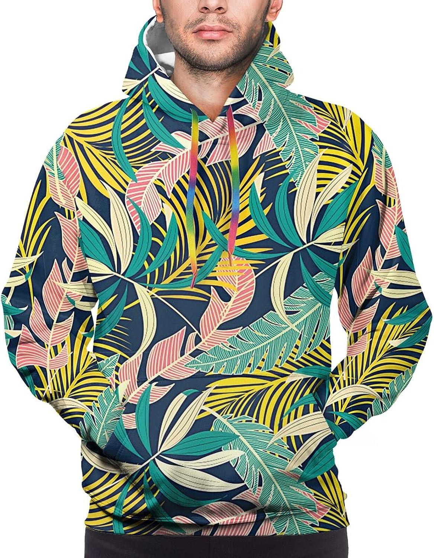 Hoodie For Men Women Unisex Summer Leaves Hoodies Fashion Sweatshirt Drawstring
