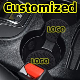 AOOOOP Car Interior Accessories for Dodge Ram Cup Holder Insert Coaster - Silicone Anti Slip Cup Mat for Dodge Ram Charger Challenger Journey Durango Grand Caravan (Set of 2, 2.75