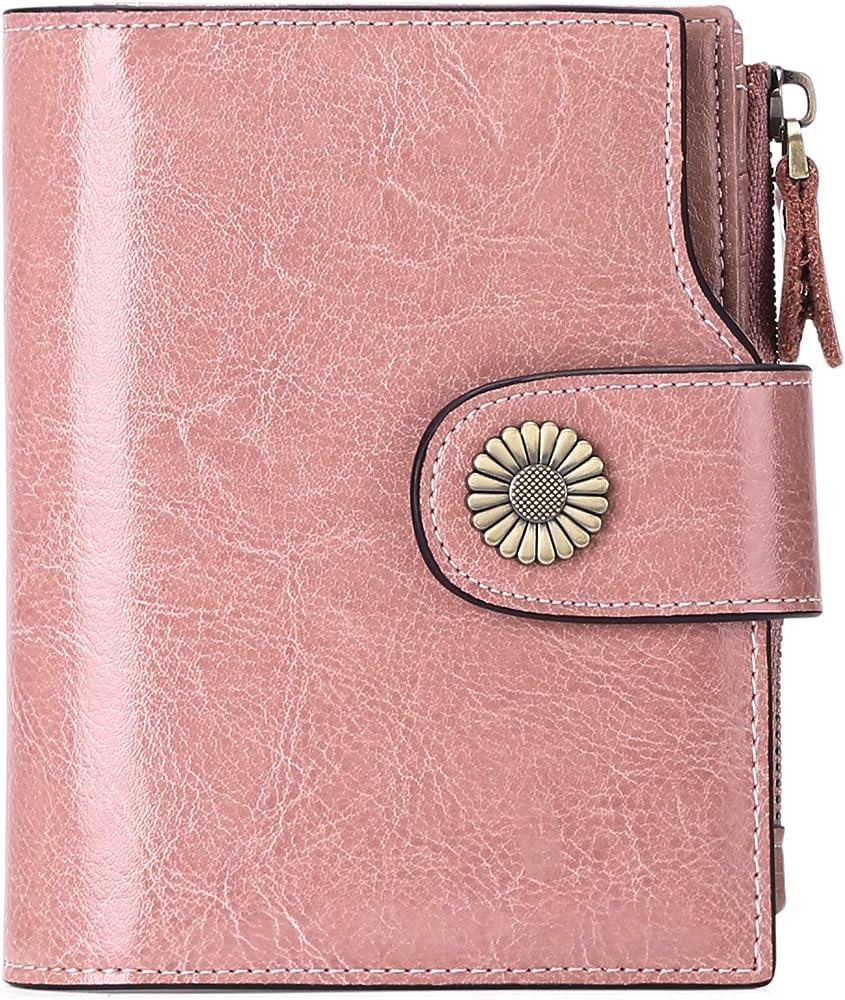 Sendefn portafoglio da donna in vera pelle porta carte di credito con protezione anticlonazione 5206B
