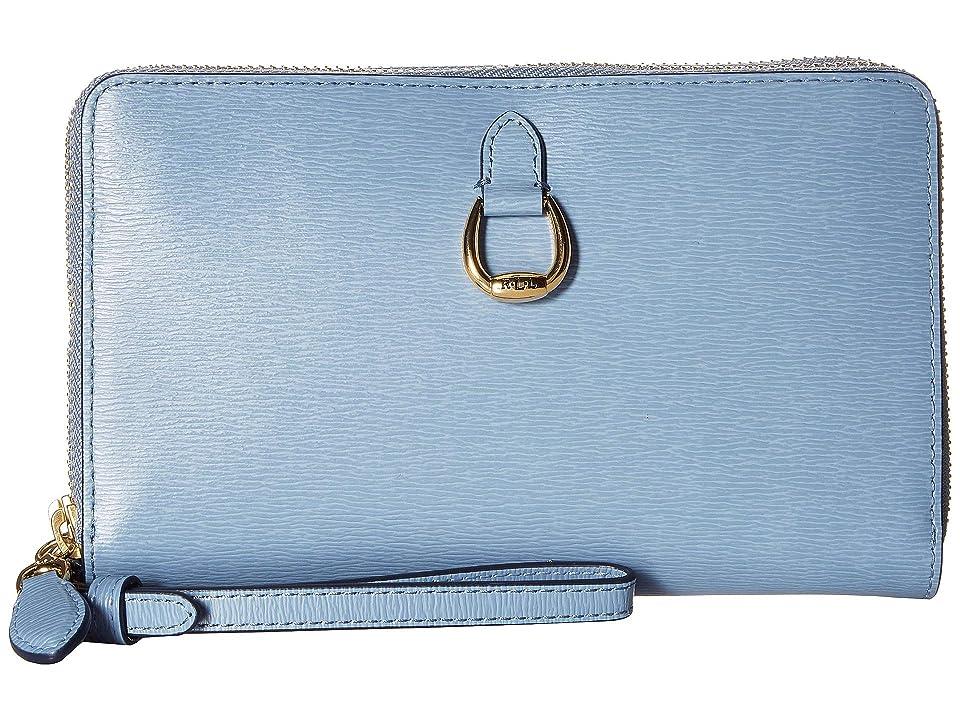 8e8a66bce5de LAUREN Ralph Lauren Bennington Double Zip Phone Wristlet (Blue Mist)  Handbags