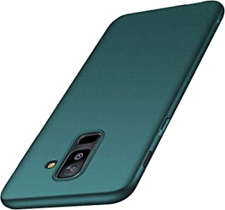 Galaxy A6 Plus Case,Kqimi Galaxy A6+ Case [Ultra-Thin] Premium Material Slim Full Protection Cover for Samsung Galaxy A6+ (6 inch) 2018 (Gravel Green)