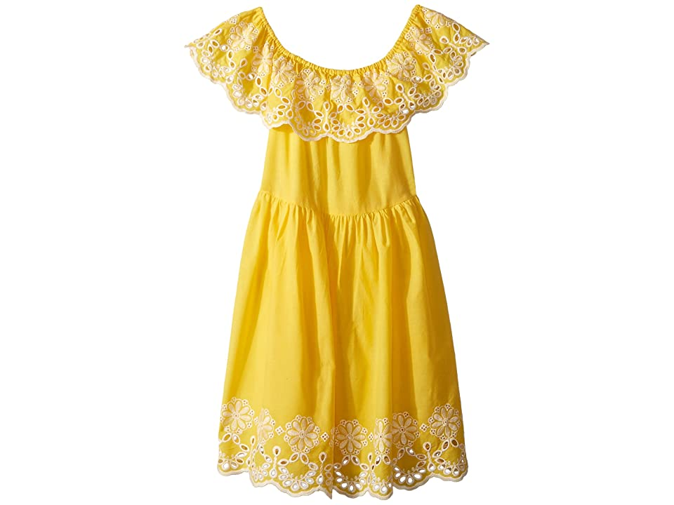 Bardot Junior Bella Broderie Dress (Big Kids) (Maize) Girl