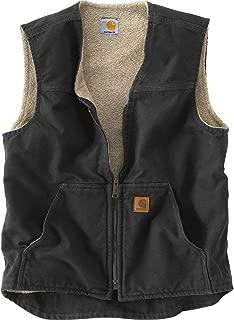 Carhartt Men's Big & Tall  Sherpa Lined Sandstone Rugged Vest V26
