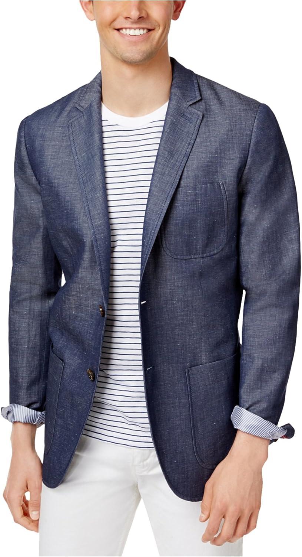 Tommy Hilfiger Mens Chambray Sport Coat