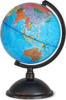 World Globe for Kids - 8 Inch Globe of World Perfect Spinning Globe for Kids, Geography Students, Teachers and More.