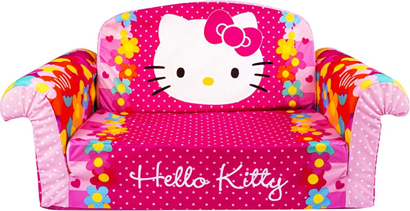Marshmallow Furniture Children S 2 In 1 Flip Open Foam Sofa Hello Kitty By Spin Master