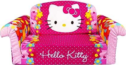 Marshmallow Furniture, Children's 2 in 1 Flip Open Foam Sofa, Hello Kitty, by Spin Master