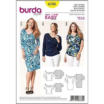 Burda Patr/ón 6910 Camiseta y Vestido