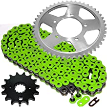 Caltric Green O-Ring Drive Chain & Sprockets Kit Fits SUZUKI GSF600S GSF-600S Bandit 600 1996-1999
