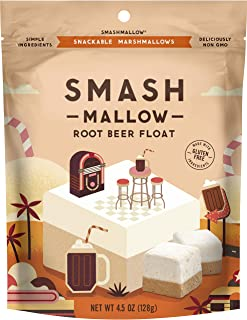Root Beer Float by SMASHMALLOW | Snackable Marshmallows | Non-GMO | Organic Cane Sugar | 80 calories | (4.5 oz)