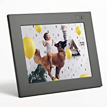 """Aura Digital Photo Frame, 10"""" HD Display, 2048 x 1536 Resolution Free Unlimited Cloud Storage, Oprah's Favorite Things List 2018, Stone WiFi Picture Frame"""