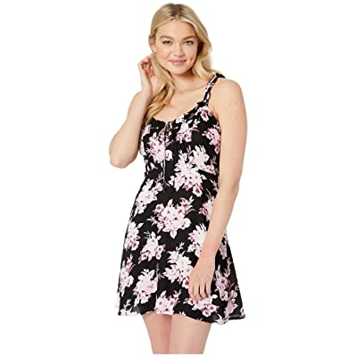 Volcom I Like It Ruffle Dress (Black Combo) Women