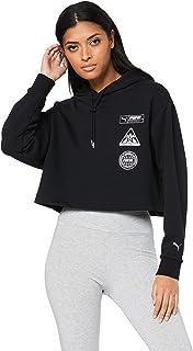 PUMA Women's TZ Hoody, Cotton Black