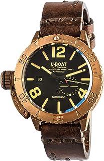 U-Boat - sommerso Reloj para Hombre Analógico de Cuarzo con Brazalete de Piel de Vaca 8486