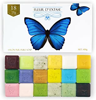 Fleur D' Extase (Ecstacy) Soap Gift Set With 18 Bars Of Guest Soaps - All Natural (18 Soaps Gift Set)