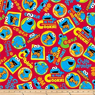 cookie monster fabric