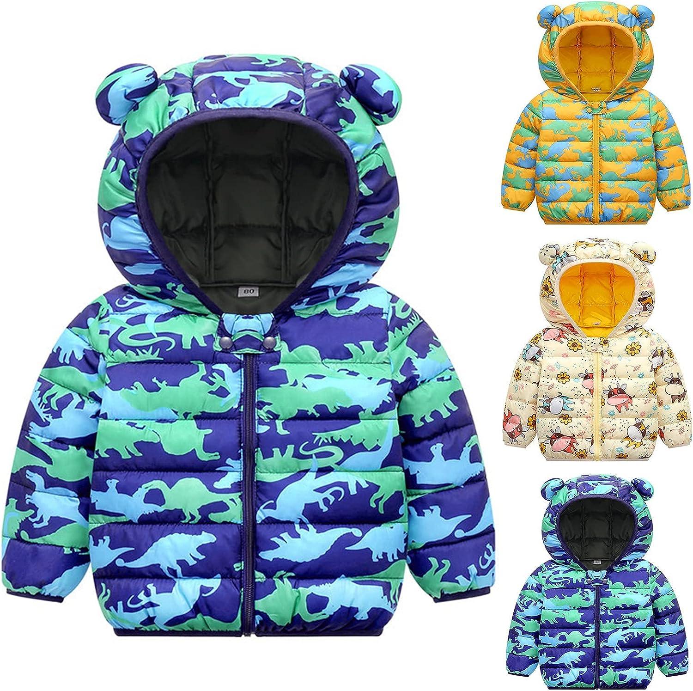 Youmymine Toddler Kids Baby Girls Down Cartoon Hoodies Pri Coats Max 40% OFF Award-winning store