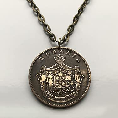 antique! 1867 Romania 10 Bani coin pendant Romanian lion Bucharest crown Moldavia Wallachia Brașov Sibiu Bran Castle Balkans Dobruja n001609