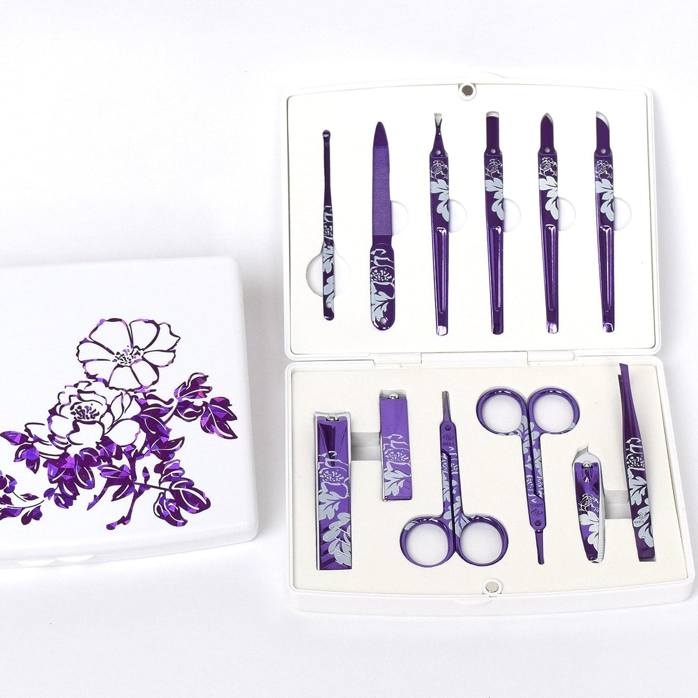 ピストル投獄解放するBELL Manicure Sets BM-500B ポータブル爪の管理セット 爪切りセット 高品質のネイルケアセット高級感のある東洋画のデザイン Portable Nail Clippers Nail Care Set