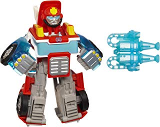 Playskool Heroes Transformers Rescue Bots Energize Heatwave the Fire-Bot Converting Toy Robot Action Figure, Toys for Kids Ages 3 and Up (Amazon Exclusive)
