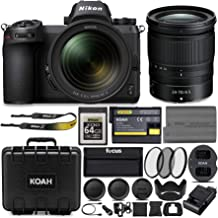 Nikon Z6 Mirrorless Camera with Nikkor 24-70mm Lens, Nikon 64GB XQD Card and Accessory Bundle (6 Items)
