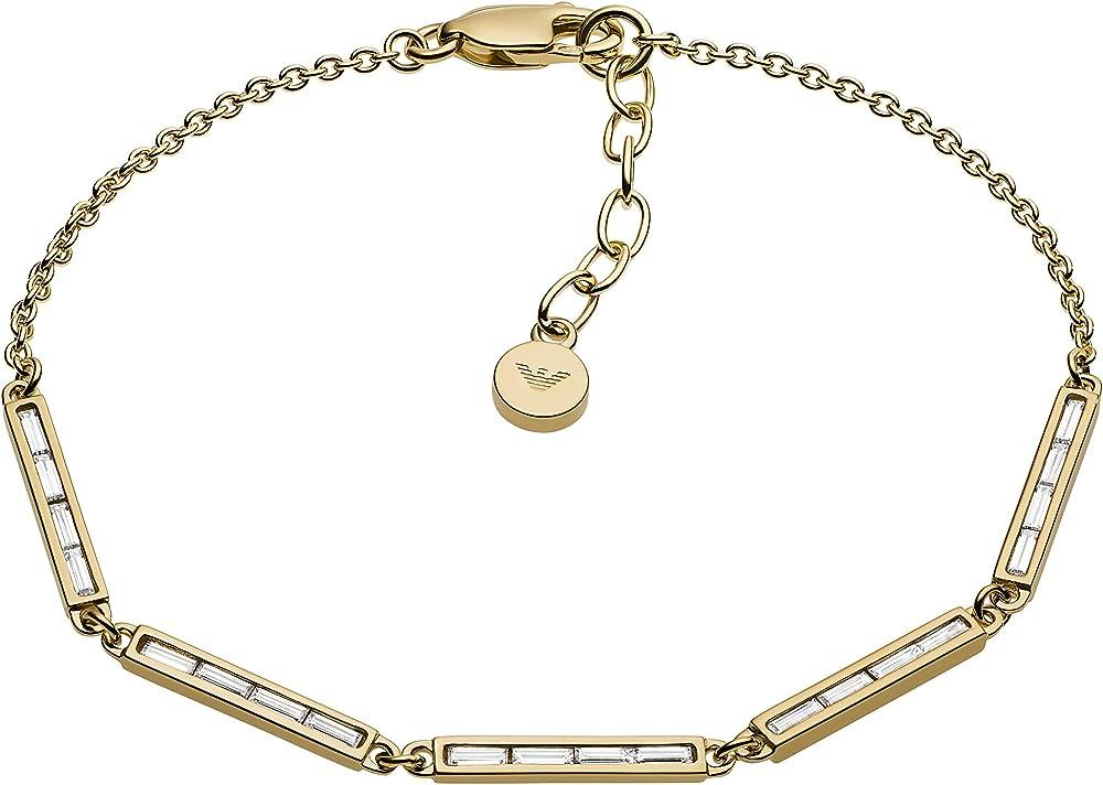 Emporio armani - bracciale da donna in argento sterling 925 con dettagli sfavillanti in cristallo EG3455710