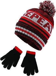 Polar Wear Boys Animal Hat & Glove Set 1 Ply Knit w/Fleece Lining Hat