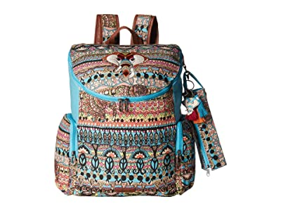 Sakroots Pacific Backpack (Aqua One World) Backpack Bags