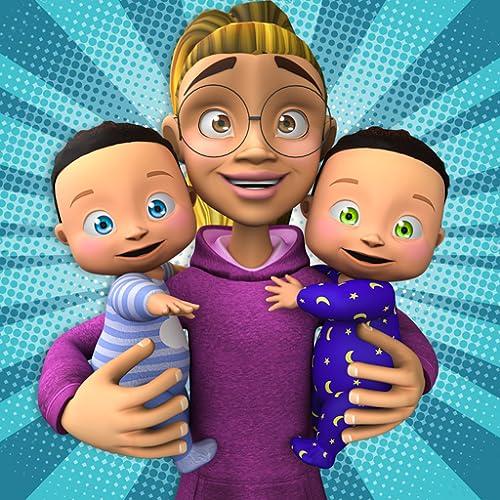 Juego de guardería gemela para niños recién nacidos