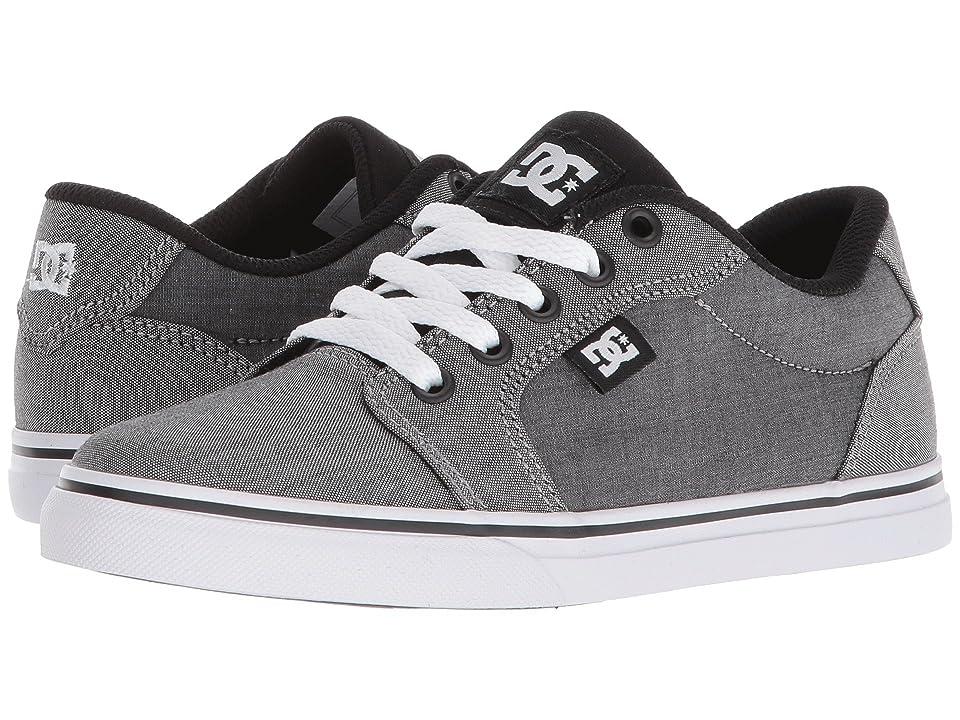 DC Kids Anvil TX SE (Little Kid/Big Kid) (Black/Black/White) Boys Shoes