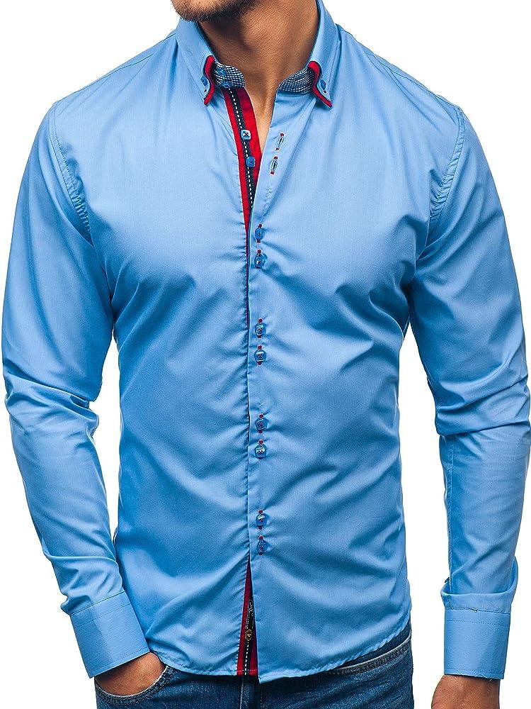 Bolf, camicia elegante per uomo, manica lunga,80% cotone, 20% poliestere BOLF 2705