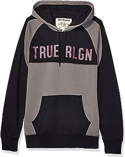 True Religion Men's Curved Ls Raglan Zip Up Hoodie