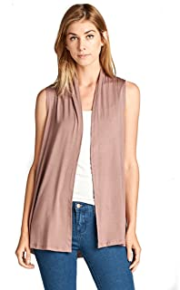 fc6df93730 Extra Soft Solid Sleeveless Bamboo Vest Cardigan Sweater for Women -Made in  USA