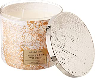 White Barn Bath and Body Works 3 Wick Scented Candle Cranberry Woods 14.5 Ounce