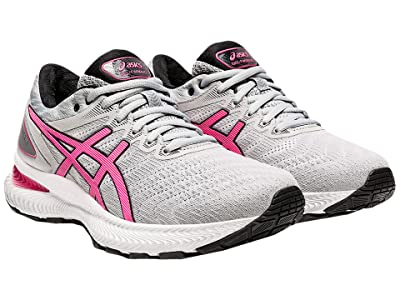 ASICS GEL-Nimbus(r) 22 (Piedmont Grey/Hot Pink) Women