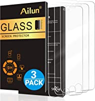 AILUN Screen Protector Compatible with iPhone 8 Plus 7 Plus,[5.5inch][3Pack],2.5D Edge Tempered Glass Compatible with...