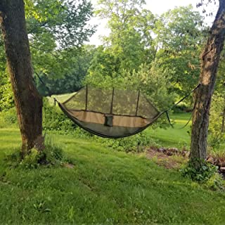 LOVE STORY Double & Single Camping Hammock with Mosquito...