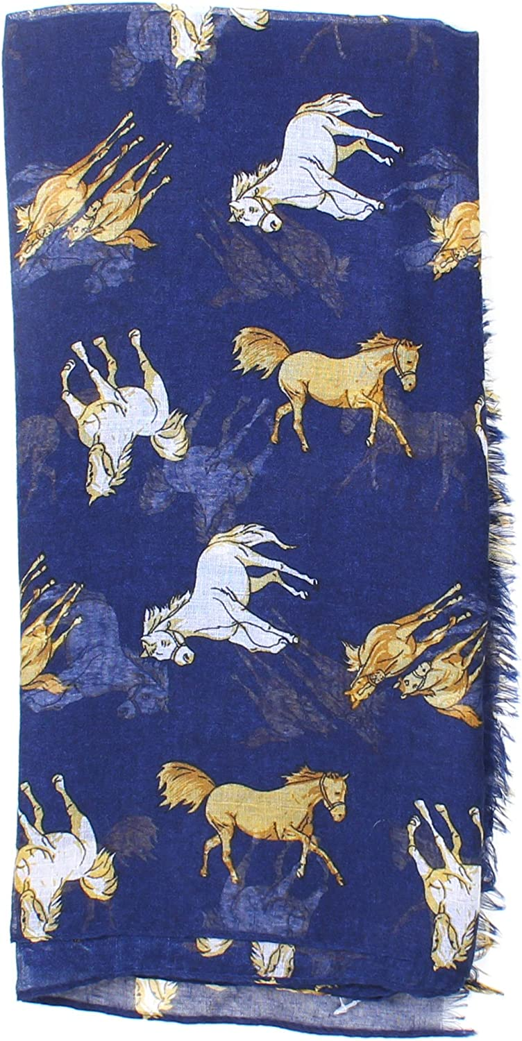 Cool Animal Horse Print Fashionable Long Scarf For Women