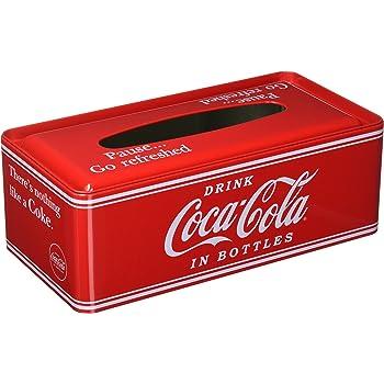 コカコーラ(Coca Cola) ティッシュケース・ホルダー 赤 9×26×13cm Coca-Cola ティッシュケース PJ-TC01 0009486-0001