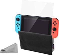 3-pc Set Switch Anti-Scratch Dock Cover + Matte Anti-Glare Screen Protector + Screen Cleaning Cloth for Nintendo Switch (Dock Cover + Matte Screen Protector + Cleaning Cloth)