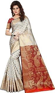Hinayat Fashion Silk Saree (Nht01Sri517_Off White_Free Size)