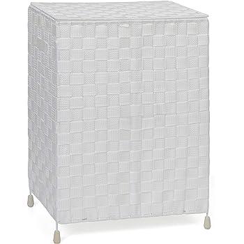 avorio WENKO Jumbo Stone Borsa portabiancheria con manici in alluminio 38 x 64 x 55 cm