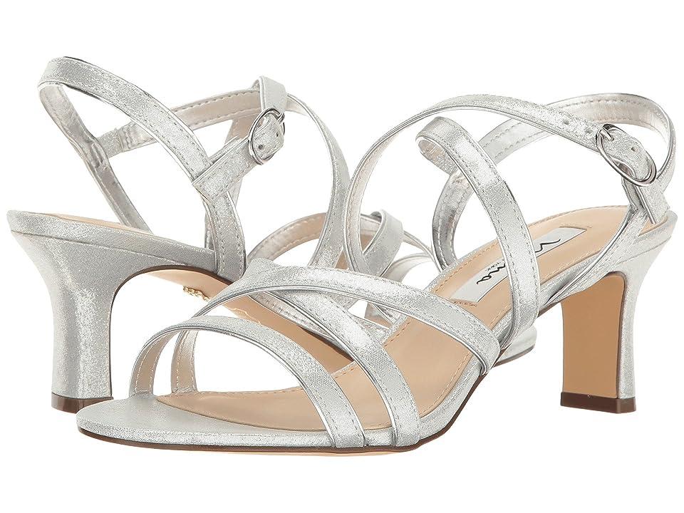Nina Genaya (Silver Reflective Suedette) High Heels
